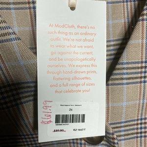 Modcloth Pants - Modcloth Plaid Appeal Vest Jumpsuit Pockets sz 26